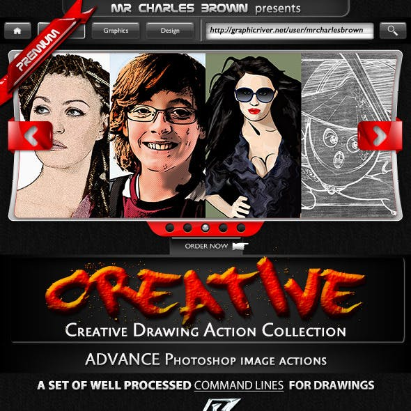 Creative Drawing Action Collection