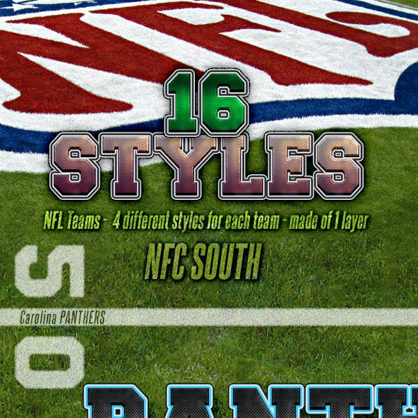 NFL Football Styles - NFC South