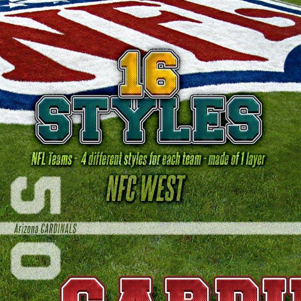 NFL Football Styles - NFC West