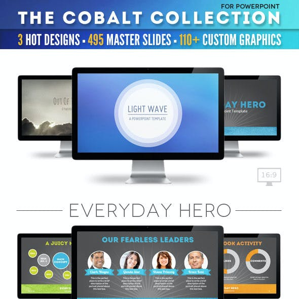 The Cobalt Collection of Powerpoint Templates