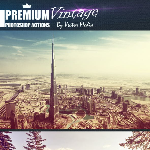 Premium Vintage - Photoshop Actions