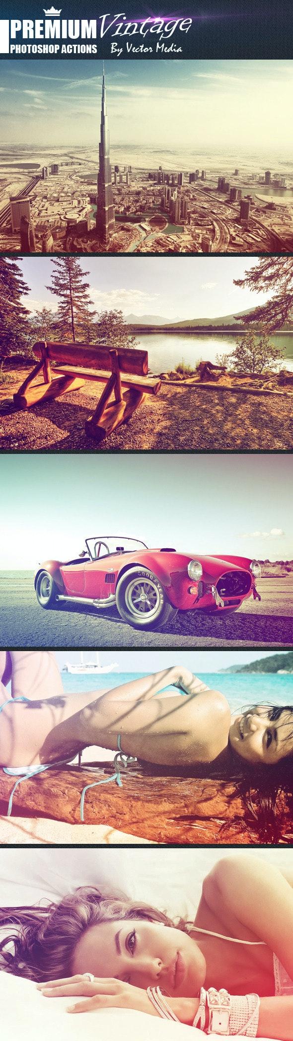 Premium Vintage - Photoshop Actions - Photo Effects Actions