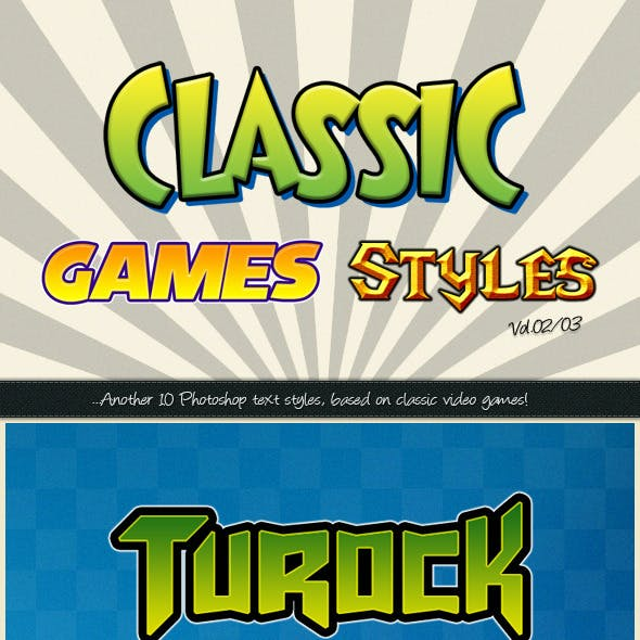 Photoshop Text Styles / Classic Games Vol.02