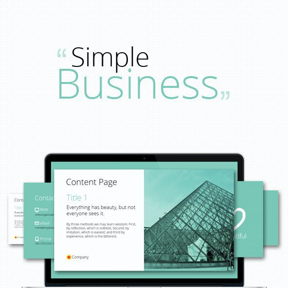 Simple Business PowerPoint Presentation
