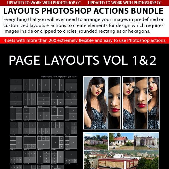 Layouts Photoshop Actions Bundle