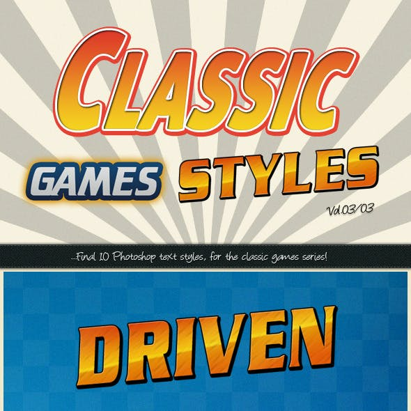 Photoshop Text Styles / Classic Games Vol.03