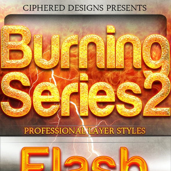 Burning Series 2 - Professional Layer Styles