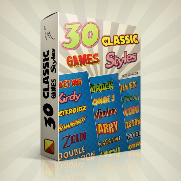 Photoshop Text Styles Bundle / Classic Games Pack