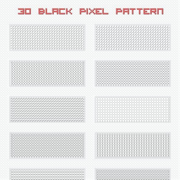 Black Pixel Patterns