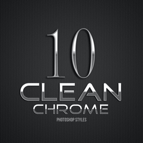 Clean Chrome Photoshop Styles