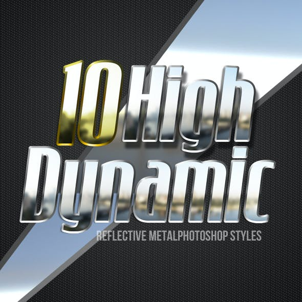 HDR Metal Photoshop Styles