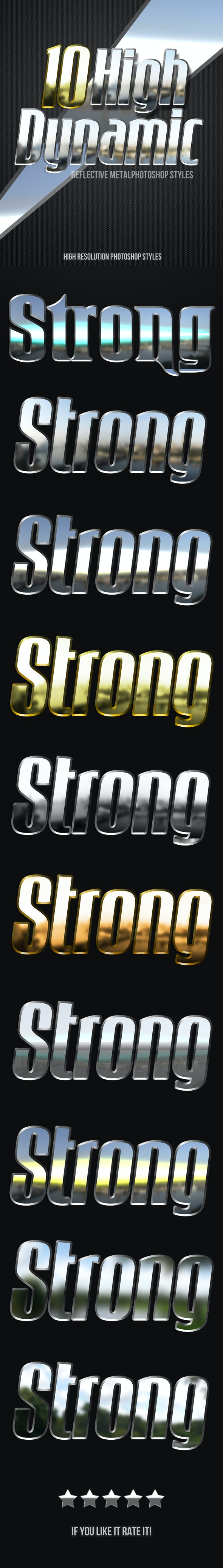 HDR Metal Photoshop Styles - Text Effects Styles