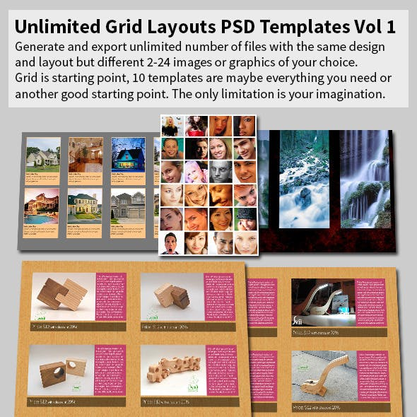 Unlimited Grid Layouts PSD Templates Vol 1