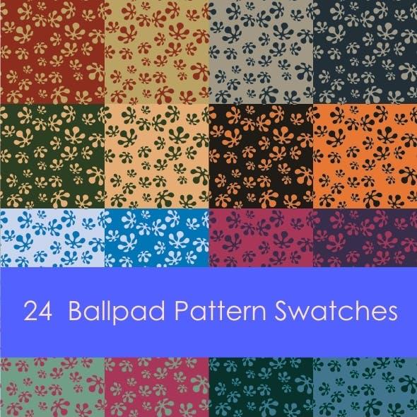 24 Ballpad Pattern Swatches