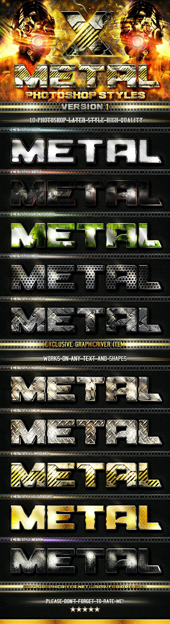 X Metal Styles V.1 - Text Effects Styles