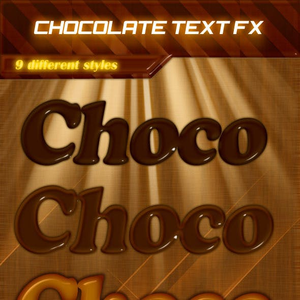 9 Delicious Chocolate Text Effects