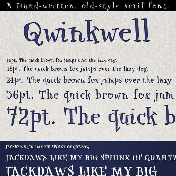 Qwinkwell; Old Style handwritten Pen & Ink