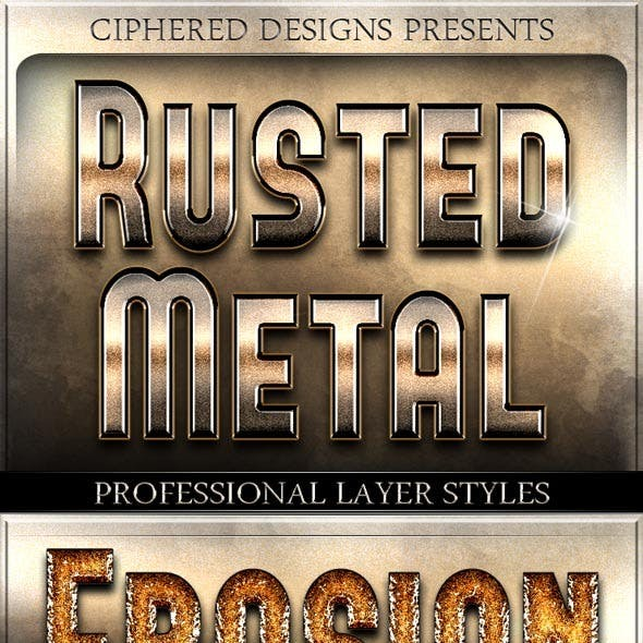 Rusted Metal - Professional Layer Styles