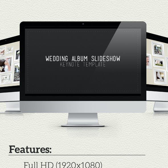 Wedding Album Slideshow Keynote Template