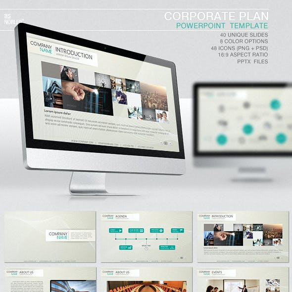 Corporate Plan PowerPoint Template
