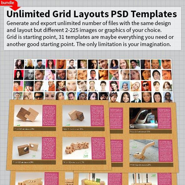 Unlimited Grid Layouts PSD Templates Bundle