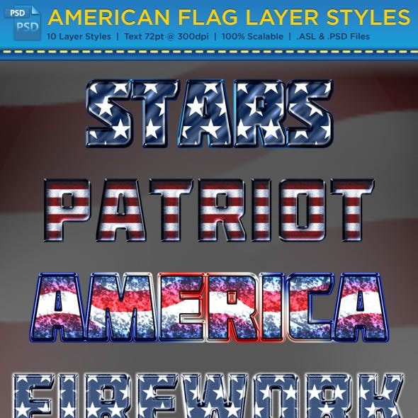 American Flag Layer Styles