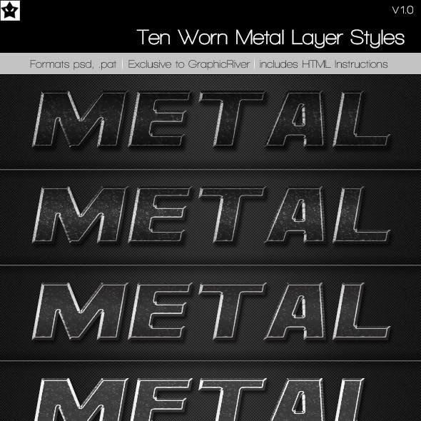 Ten Worn Metal Layer Styles