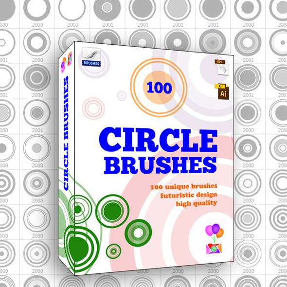 100 Circle Brushes - Photoshop Brushes