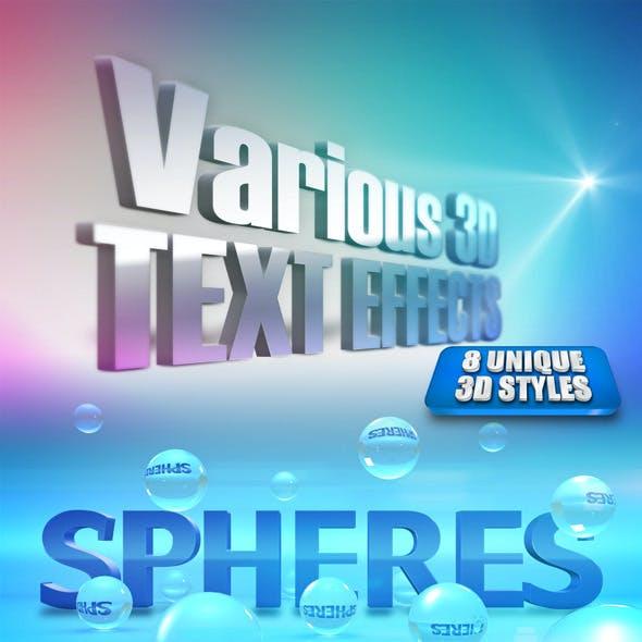 Various 3D Text Effects