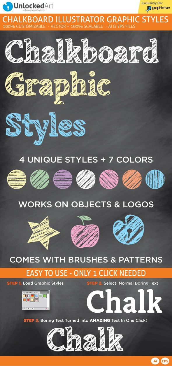 ChalkBoard Graphic Style