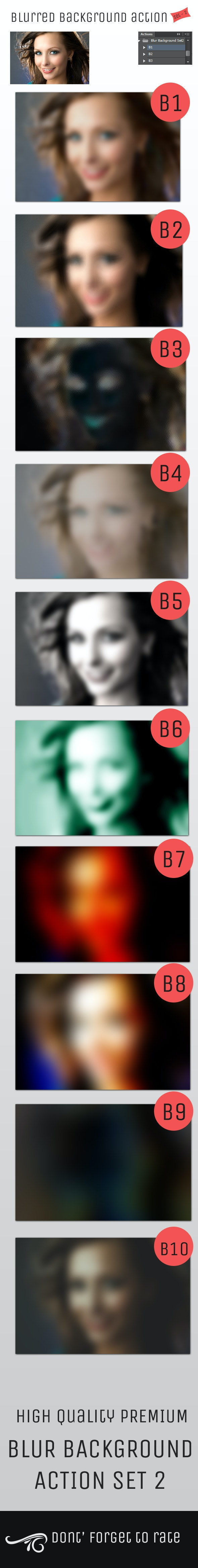 Blur Background Action Set V2 - Photo Effects Actions