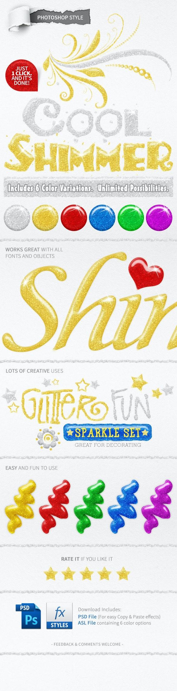 6 Glitter Text Styles - Styles Photoshop