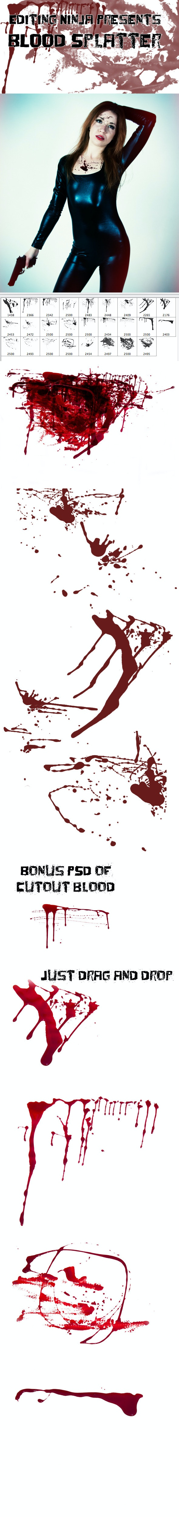 Blood Splatter - Grunge Brushes