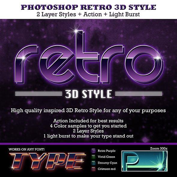 Retro 3D Text Style