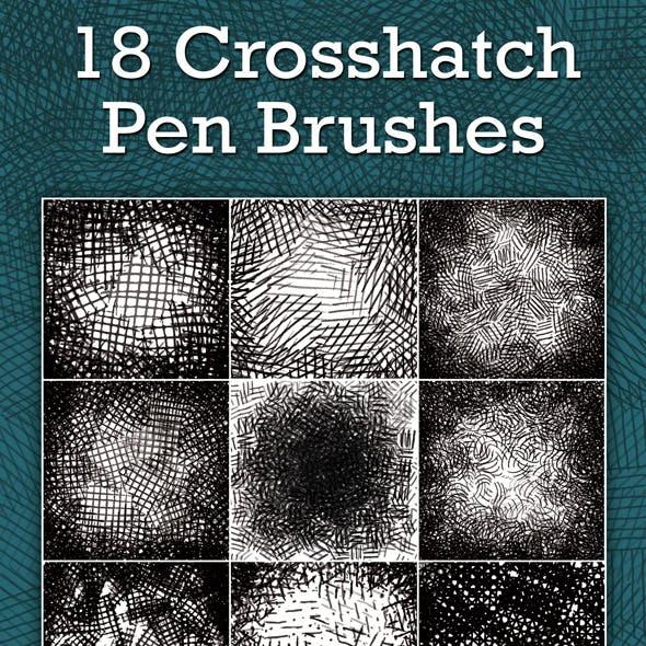 Crosshatch Pen Brushes