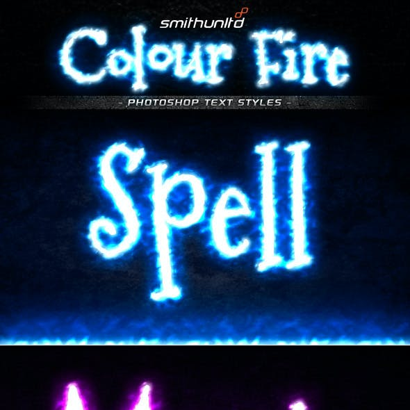 Colour Fire Text Styles