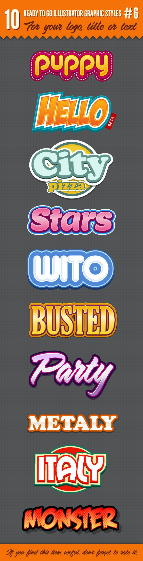 10 Logo Graphic Styles #6 - Styles Illustrator