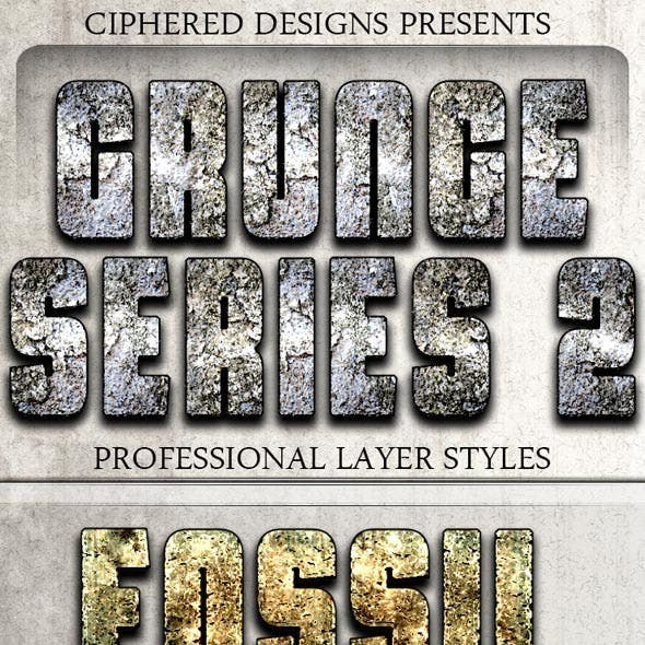 Grunge Series 2 - Professional Layer Styles