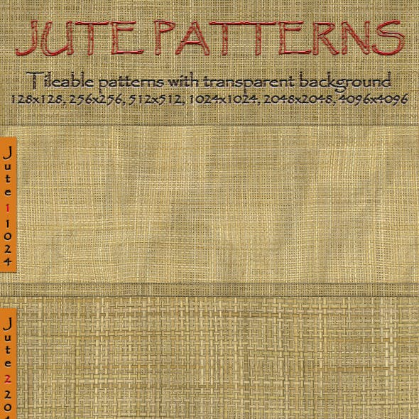 Jute Seamless Tiling Patterns