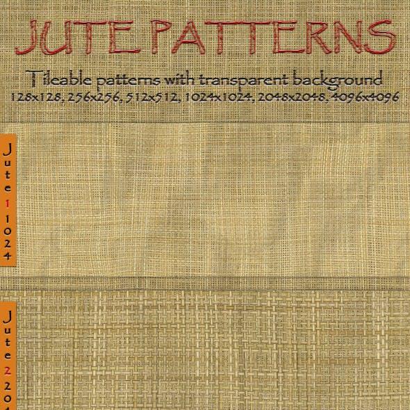Jute Seamless Tiling Patterns