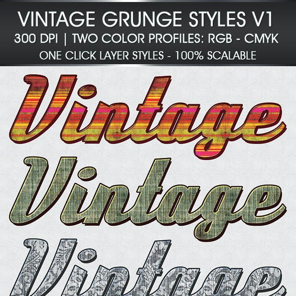 Vintage Grunge Text Styles