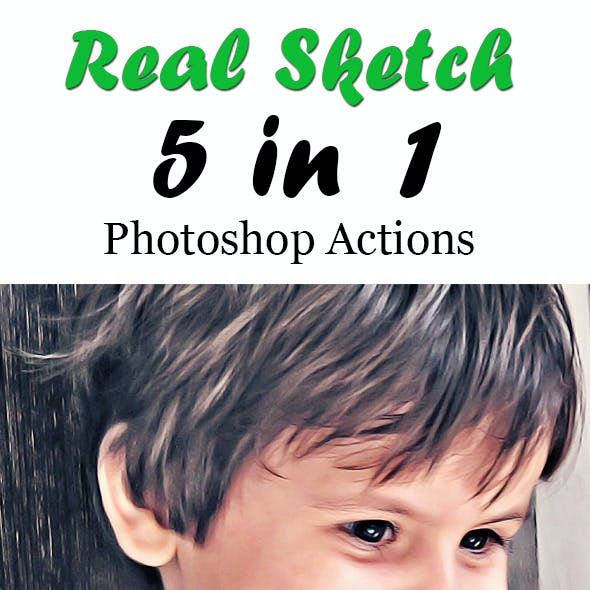 Real Sketch Photoshop Actions