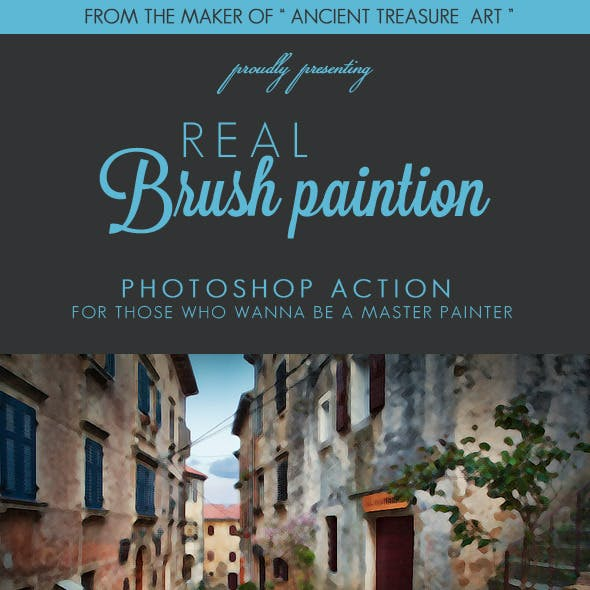 REAL Brush Painting - Ps Action Pack