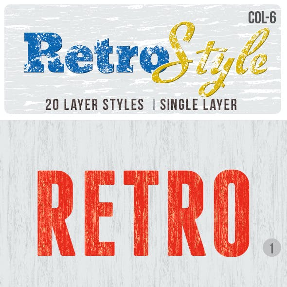 Retro Layer Styles