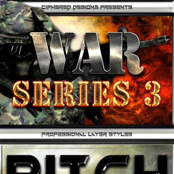 War Series 3 - Professional Layer Styles