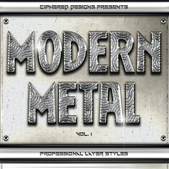 Download Modern Metal - Professional Layer Styles