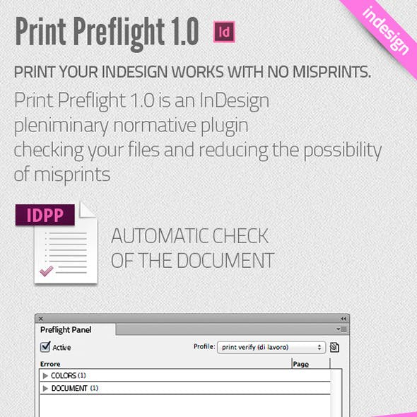 Print Preflight for InDesign