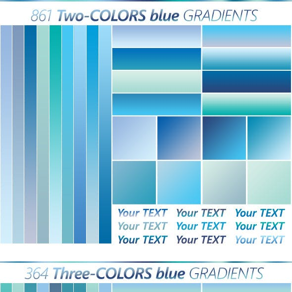 The Ultimate Blue Gradients Collection