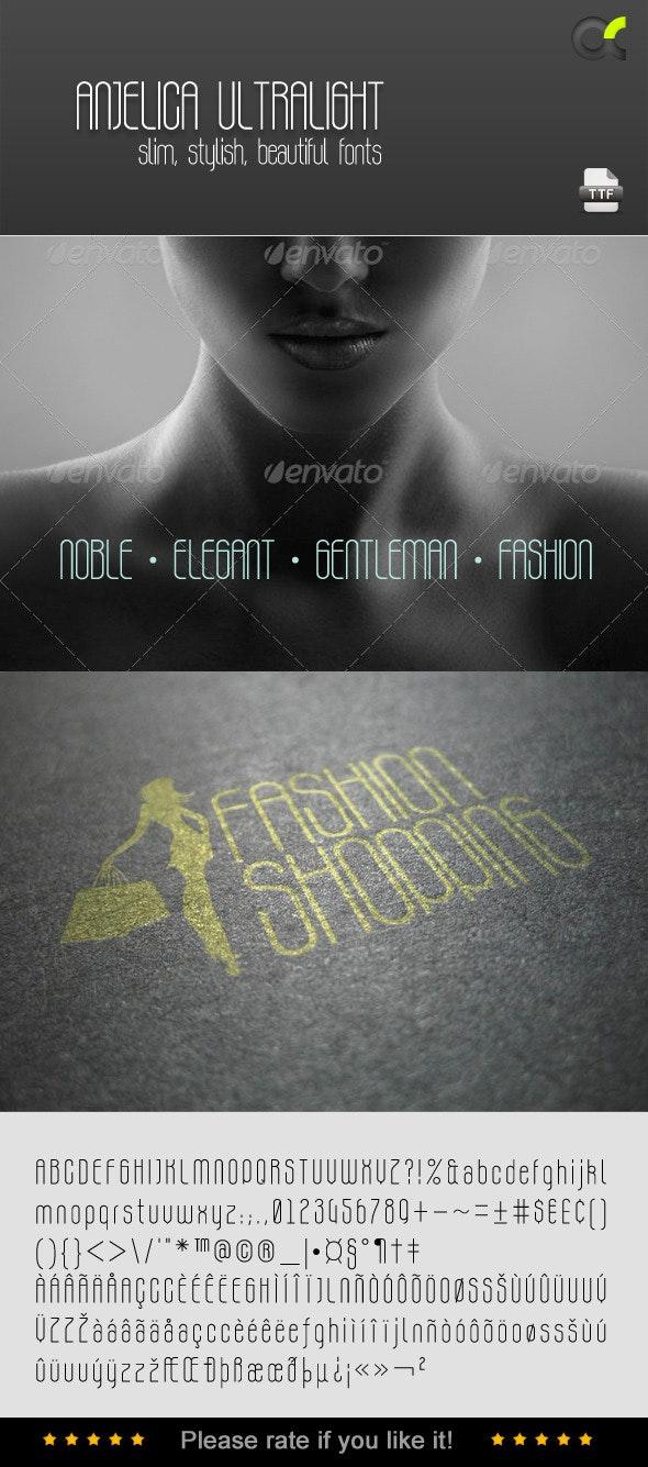 Anjelica Ultralight Font - Fonts