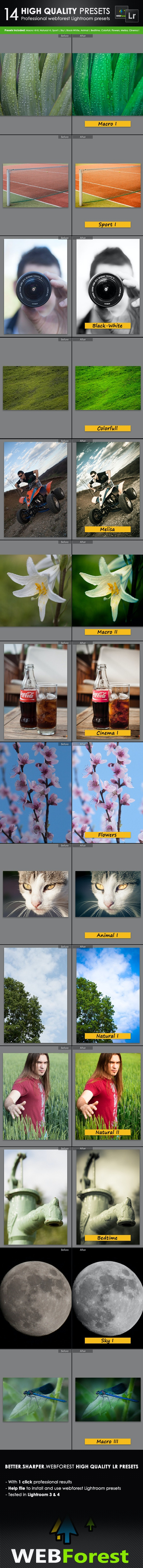14 High Quality Lightroom Presets - Lightroom Presets Add-ons
